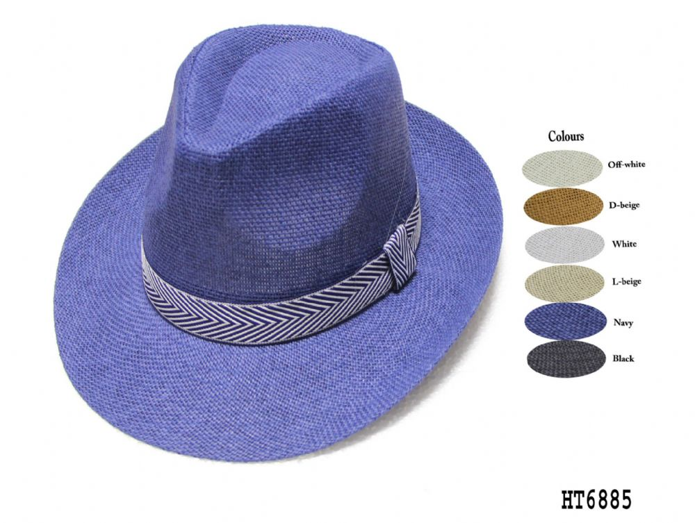 Mens and Ladies panama fedora hat HT6742